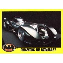 1989 Batman The Movie Series 2 Topps PRESENTING THE BATMOBILE! #247 EX