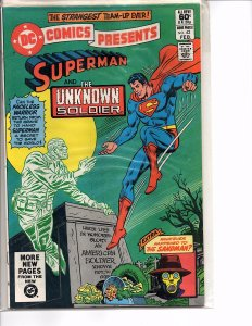 DC Comics Presents #42 Superman and The Unknown Solider VF Plus Sandman