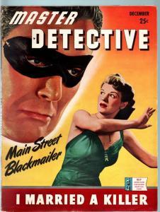 MASTER DETECTIVE DEC 1942-VF-MASKED VILLAIN COVER-GUN MOLL STORY-TRUE CRIME VF