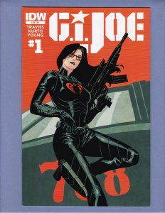 G.I. Joe #1 NM- Front/Back Cover Scans IDW 2014