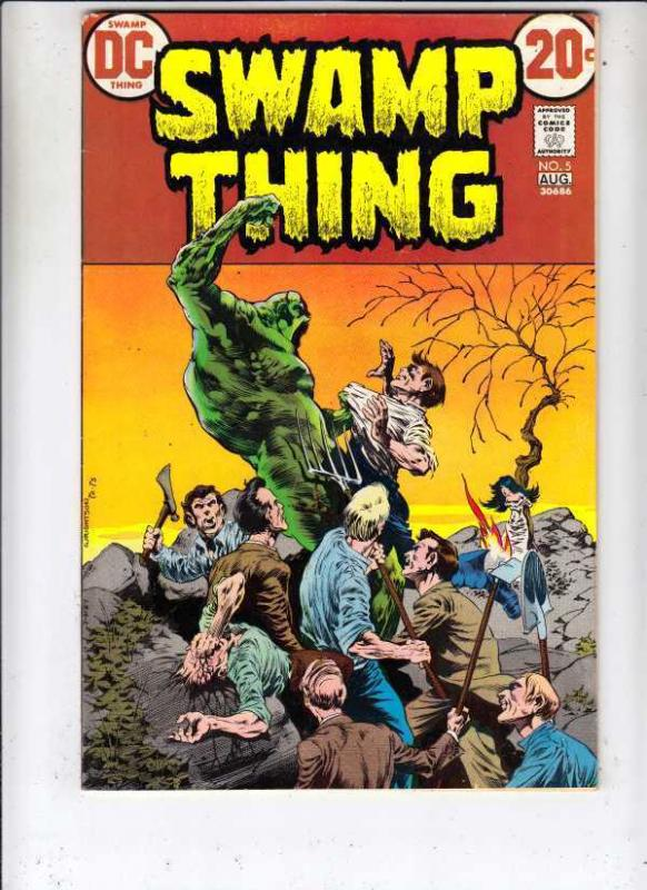 Swamp Thing 5 strict VF- High-Grade Wrightson Art huge  run! 40pct- BV$37.00