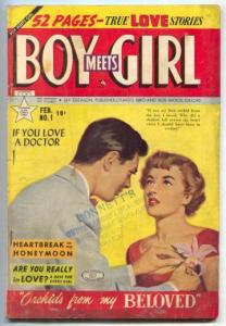 Boy Meets Girl #1 1950- Orchids from my Beloved- RARE VG-
