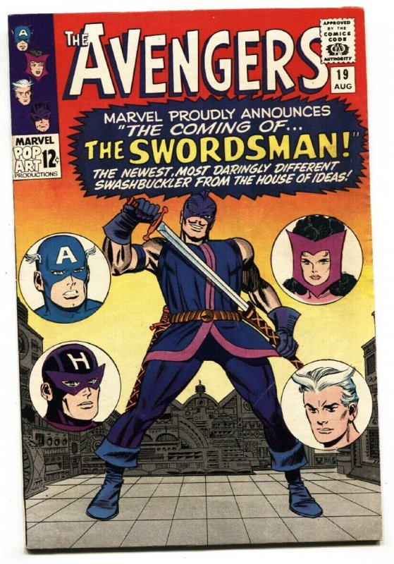 AVENGERS #19 1965 Marvel comic book-1st Swordsman-Origin of Hawkeye