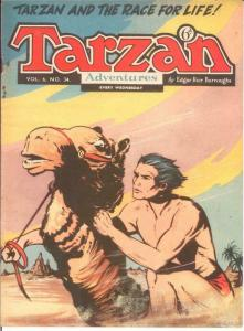 TARZAN ADVENTURES V 6#34 VG Nov. 1956 COMICS BOOK