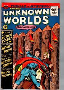 UNKNOWN WORLDS #38-1965-ACG-HORROR-WILD COVER-HERBIE VG/FN