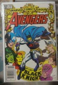 Avengers # 225 1983, Marvel +SHE HULK +ironman THOR+ black knigh returns