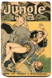 Jungle Comics #97 1948- KAANGA- Fiction House low grade