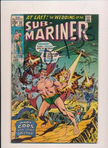 SUB-MARINER #36 15c, The Wedding of, Marvel Comics ~ GD/VG (HX325)