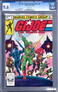 G.I. Joe #4 CGC 9.4 Marvel comic (Oct,82) Key issue and priced to go. Snake Eyes