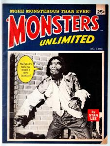 MONSTERS TO LAUGH WITH #6-STAN LEE-MARVEL COMICS-MONSTER MAGAZINE1965-VG- VG-