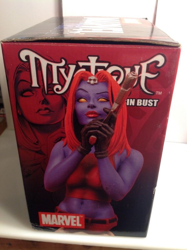 Diamond Select Toys Mystique resin mini-bust MIB #0485/2500 2004 Marvel X-Men