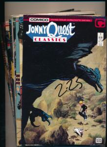 COMICO Lot of 9JONNY QUEST #1 Classics, #1,2,4,5,6,8,13,17 VF (PF65)