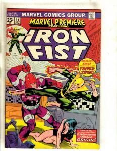 Marvel Premiere # 18 VF/NM Comic Book Feat. Iron Fist Karate Defenders RS1