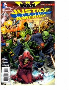 Lot Of 4 Justice League Of America DC Comic Books # 6 9 10 11 New 52 Batman J209