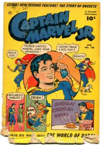 CAPATAIN MARVEL JR # 108  FAWCETT 1952 STORY OF ROCKETS Poor
