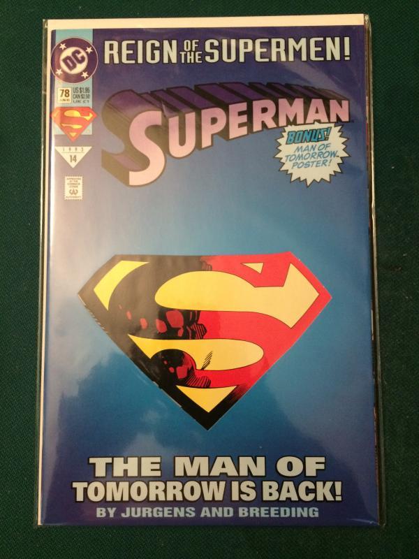 Superman #78 Reign of the Supermen!
