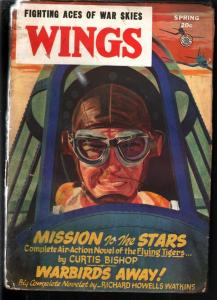 WINGS PULP-SPRG 1946-FICTION HOUSE-WWII ACTION! G/VG