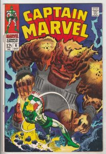 Captain Marvel #6 (Oct-68) NM- High-Grade Captain Marvel