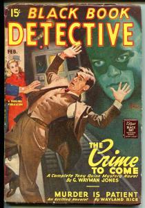 BLACK BOOK DETECTIVE 02/1947-THRILLING-BLACK BAT-HERO PULP-vg