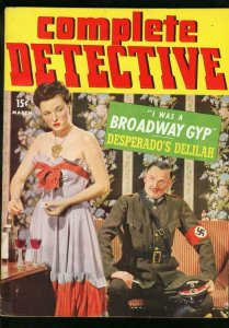 COMPLETE DETECTIVE CASES MARCH 1943-NAZI COVER-VG VG