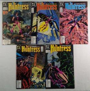 Huntress #1 2 3 4 5 FN/VF 1st Appearance Helena Bertinelli DC 1989