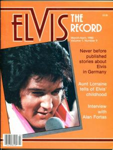 Elvis The Record #9 3/1980-Elvis fanzine-candid pix-FN