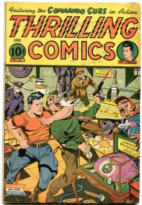 Thrilling Comics #48 1945- Doc Stange Schomburg cover- Commando Cubs VG