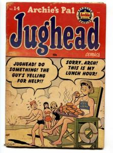 Archie's Pal Jughead #14 1952- Betty & Veronica - Beach cover G/VG