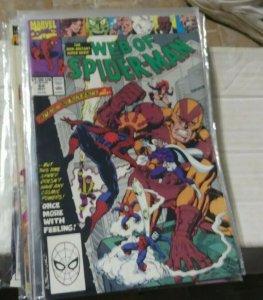 Web of spider-man # 64  1989 marvel graviton goliath titana trapster