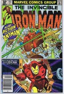 Iron Man #151 ORIGINAL Vintage 1981 Marvel Comics Ant Man