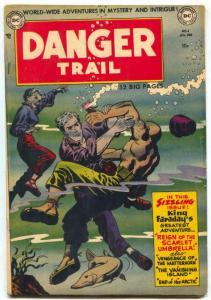 Danger Trail #4 1951- Last King Faraday- Rare DC Comic FN