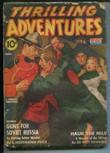 THRILLING ADVENTURES 11/1942-PULP ACTION-RUDOLPH BELARSKI-fr