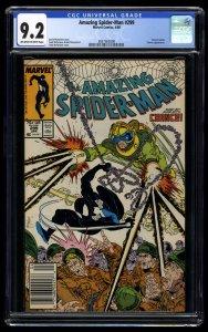 Amazing Spider-Man #299 CGC NM- 9.2 Newsstand Variant 1st Venom Cameo!