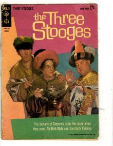 Lot Of 4 The Three Stooges Gold Key Comic Books # 11 19 In Orbit World Daze JL30