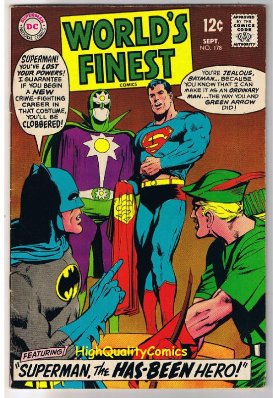 WORLD'S FINEST #178, FN+, Batman, Superman, Neal Adams, 1941