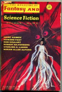 MAGAZINE OF FANTASY AND SCIENCE FICTION-Nov 1969-Science Fiction Pulp Thrills