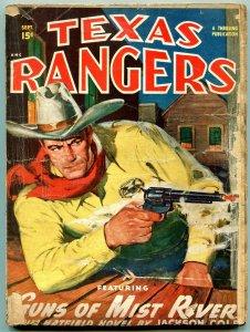 Texas Rangers Pulp September 1949- Jim Hattfield- Western FAIR
