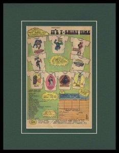 1979 Marvel Comics T Shirts Framed 11x14 ORIGINAL Advertisement Spider-Man Hulk