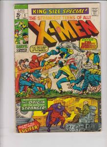X-Men Annual #1 GD stan lee - jack kirby - avengers vs x-men - bronze age 1970