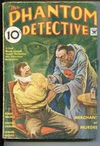 PHANTOM DETECTIVE 10/1934-THRILLING-TORTURE-WEIRD MENACE-HERO PULP-vg minus