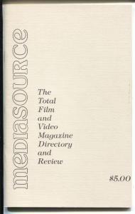 Mediasource #1Winter 1985-1st issue-index to film & video sci-fi & fantasy-VF