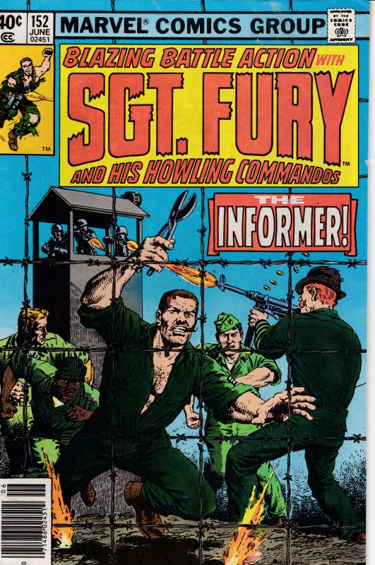 SGT. FURY Nr.152  JUN.1979 The Informer  VF Clean