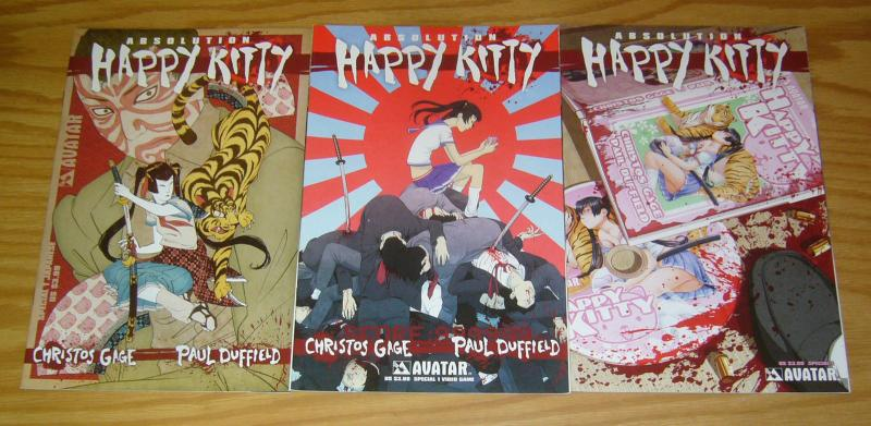 Absolution: Happy Kitty Special #1 VF/NM one-shot + japanese variant +video game