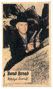 Hopalong Cassidy Bond Bread Giveaway Card