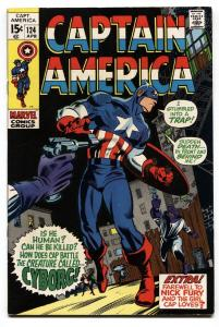 Captain America #124 1970- Nick Fury-- Modok- Gene Colan  VF/NM