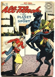 ALL-FLASH COMICS #31-1947--BONDAGE COVER AND STORY-JOHN CARTER OF MARS THEME