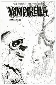Vampirella #3 RI 1:20 Phillip Tan B&W Variant (Dynamite, 2017) NM