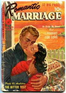 Romantic Marriage #10 1952- Golden Age Romance strange covers G