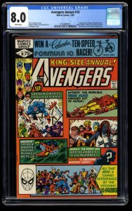 Avengers Annual #10 CGC VF 8.0 White Pages 1st Rogue!