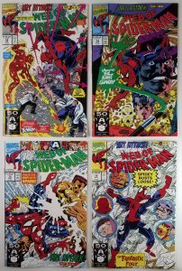 (4x) Web of Spider-Man: The Complete - Art Attack #73 #74 #75 #76 Marvel Key